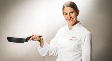 María Espin (39 años) y Chef Ejecutivo de Hotel Meliá Sky Barcelona.
