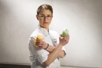Vanessa Merino (37 años). Es segunda Jefa de cocina en Les Magnòlies -1* Michelin-. Arbucies.