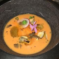 Mortero de sopa de tomate