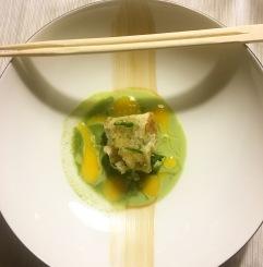 Ravioli de pez mantequilla